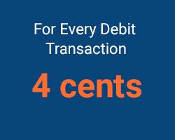 4 cents per transaction